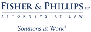 Fisher and Phillips logo in blue