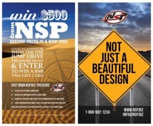 National Sign Plazas jump drive print collateral design